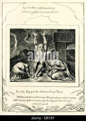 """Das Buch Hiob, Illustration von William Blake. Zuerst veröffentlicht 1826.   """"Lo, lassen Sie in dieser Nacht einsam - Stockfoto"""