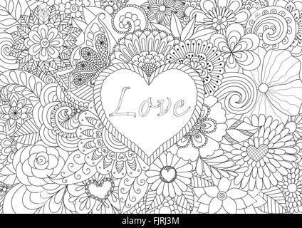 tribal Tattoo Hand Zeichnung Herz Vektorgrafiken Vektor Abbildung ...