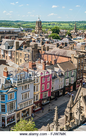 Mittelalterliche Skyline von der Universitätsstadt Oxford England.   Aussicht-deutschen sterben Altstadt von Oxford, - Stockfoto