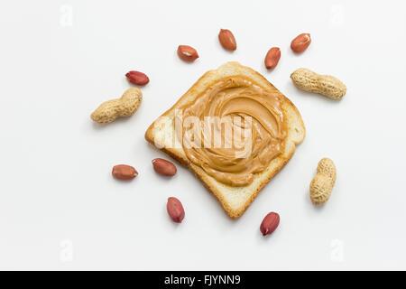 Peanut Butter Toast - Stockfoto