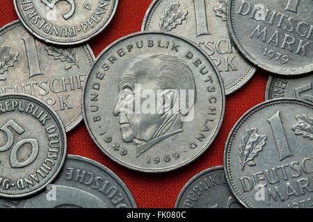 2 Deutsche Mark Münze Konrad Adenauer Bundesrepublik Deutschland
