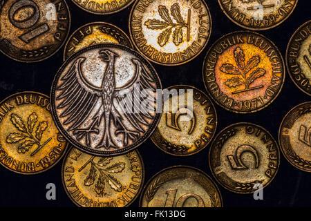 Europäische Münzen - Stockfoto