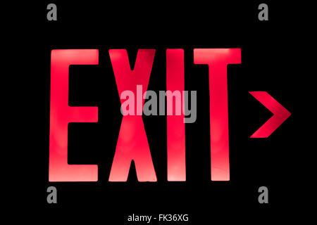 Leuchtet rot-Ausfahrt nach rechts zeigenden - Stockfoto