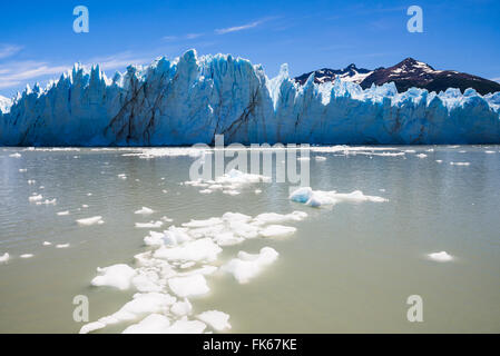 Gefallen Eis und Perito Moreno Glaciar, Nationalpark Los Glaciares, UNESCO, in der Nähe von El Calafate in Patagonien, - Stockfoto