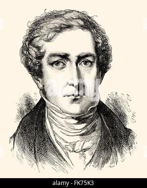 Sir Robert Peel, 1788-1850, 2. Baronet Peel von Clanfield, ein britischer Politiker, Premierminister und Gründer - Stockfoto