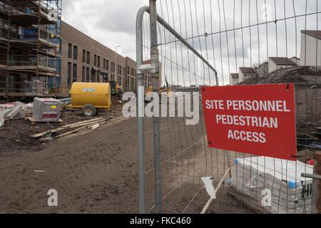 Bau Website Signage, Baustelle, Vereinigtes Königreich - Stockfoto