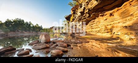der Murchison River Gorge bei Ross Graham, Kalbarri National Park, Western Australia - Stockfoto