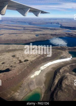 Überflug der kanadischen Arktis in Ulukhaktok in Holman NWT - Stockfoto