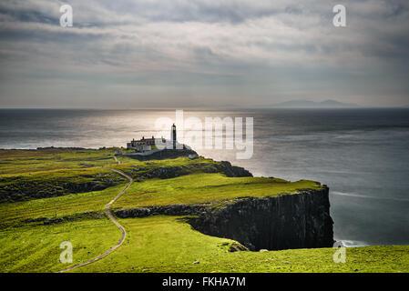 Landschaftlich Point Lighthouse in Isle Of Skye, schottische Highlands, Vereinigtes Königreich - Stockfoto
