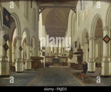 Hendrick (Cornelisz.) van Vliet - Innenraum der Kirche in Delft, mit ...