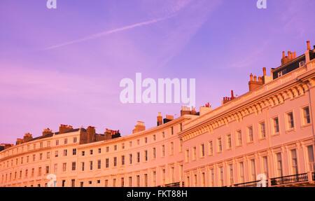 Adelaide Crescent, Hove, Brighton & Hove, East Sussex, UK - Stockfoto