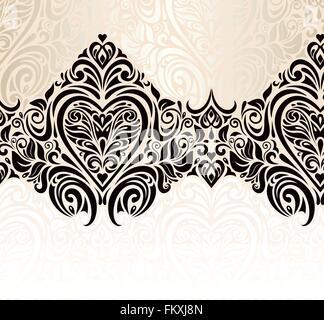 ... Hochzeit Oldtimer Dekorative Blumen Einladung Hintergrunddesign    Stockfoto