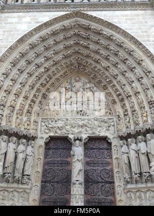 Die schönsten Architektur benannt. in Notre Dame de Paris - Stockfoto