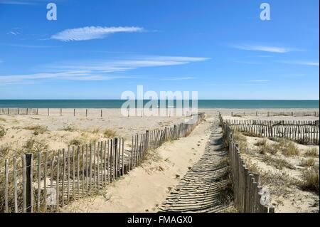 Frankreich, Pyrenäen Orientales, Canet En Roussillon, Strand - Stockfoto