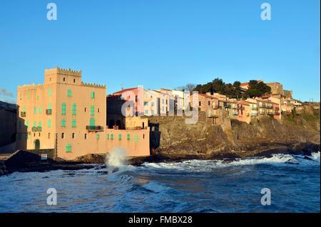Frankreich, Pyrenäen Orientales, Collioure, Moure Bezirk - Stockfoto