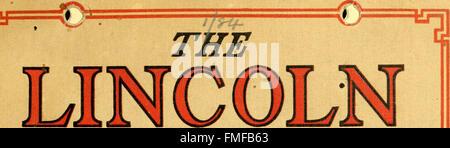 Der Lincoln-Geschichte-Kalender. 1809. 1909; hundertsten Geburtstag (1908) - Stockfoto