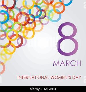 Farbenfroh Ecard für Tag der Frauen - Stockfoto