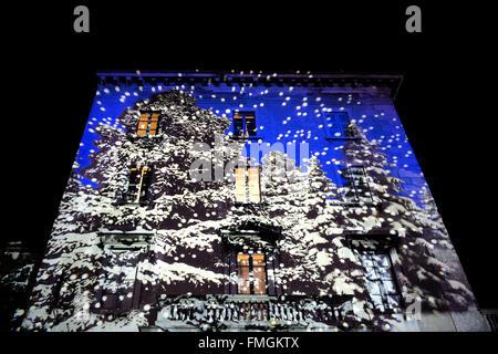 Italien, Como, Magic Lichterfest, Weihnachten - Stockfoto