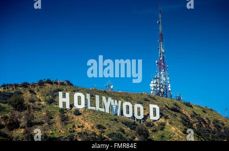 Hollywood-Schild, Lake Hollywood, Los Angeles, - Stockfoto