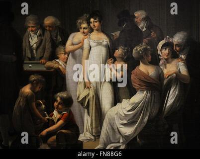 Louis Leopold Boilly (1761-1845). Französischer Maler. Spiel Billard, 1807. Detail. Öl auf Leinwand. Die Eremitage. - Stockfoto