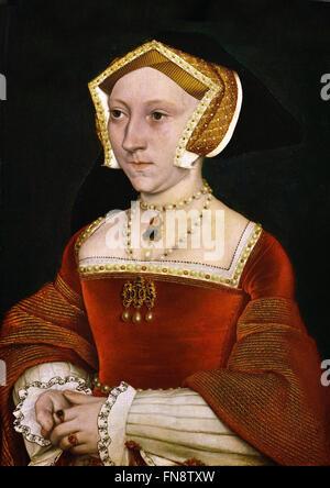Porträt von Jane Seymour (1509-1537) 1540 Hans Holbein dem jüngeren 1497-1543 Deutsch Deutschland (Jane Seymour - Stockfoto