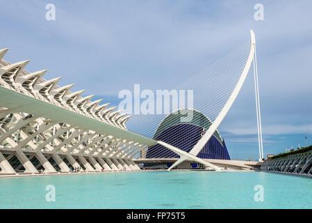 Die Stadt der Künste und Wissenschaften in Valencia, Spanien. - Stockfoto