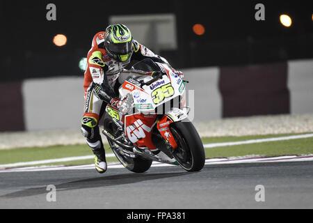 Losail International Circuit, Doha, Katar. 17. März 2016. Commercial Bank Grand Prix von Katar. Cal Crutchlow (LCR - Stockfoto