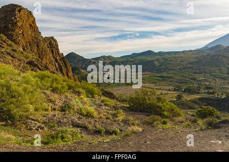 Blick auf Valle de Ariba, Teneriffa, Spanien - Stockfoto
