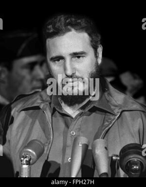 Fidel Castro bei einem Besuch in Washington DC im April 1959 - Stockfoto