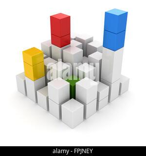Anderen Block, dies ist ein Computer generiert und 3d gerenderten Bild. - Stockfoto