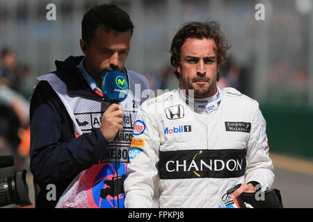 Melbourne Grand Prix Circuit, Albert Park, Melbourne, Australien. 18. März 2016. Der Australian Grand Prix F1. Samstag - Stockfoto