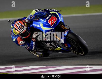 Losail International Circuit, Doha, Katar. 19. März 2016. Commercial Bank Grand Prix von Katar. Maverick Viñales - Stockfoto