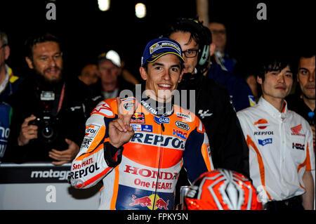 Losail International Circuit, Doha, Katar. 19. März 2016. Commercial Bank Grand Prix von Katar. Marc Marquez (Repsol - Stockfoto