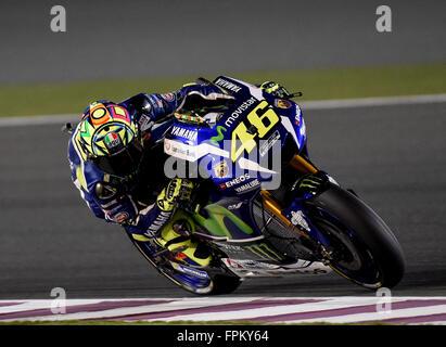 Losail International Circuit, Doha, Katar. 19. März 2016. Commercial Bank Grand Prix von Katar. Valentino Rossi - Stockfoto