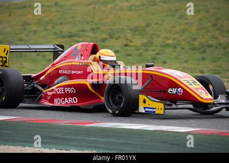 Montmelo, Spanien. 19. März 2016. Fahrer Daniel Harout. Herausforderung-Formel. V de V Endurance Serie. Montmelo, - Stockfoto