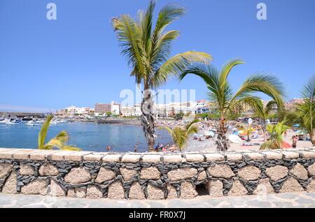 Malerischer Strand in Playa de San Juan. Playa de San Juan ist ein kleines Fischerdorf im Süden westlich von der - Stockfoto