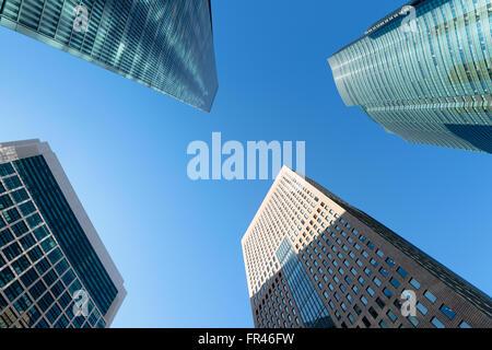 Shiodome Finanzviertel in Tokio - Japan. - Stockfoto