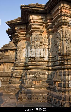 Asien, Indien, Karnataka, Belur, Chennakeshava-Tempel - Stockfoto
