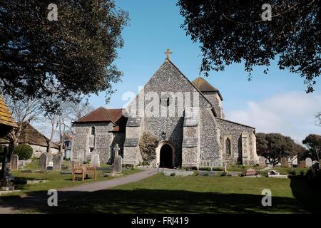 St. Margarets Church in Rottingdean in der Nähe von Brighton East Sussex UK - Stockfoto