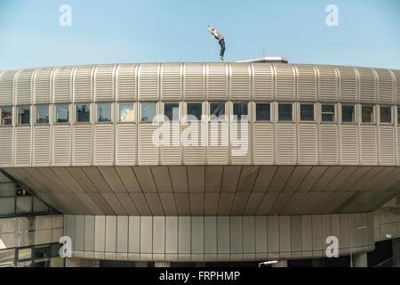 Städtischen Freerunning - Stockfoto