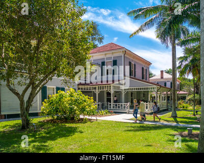 Edison Haupthaus am Edison und Ford Winter Estates in Fort Myers Florida - Stockfoto