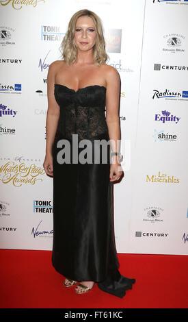 21. Februar 2016 - Brooke Kinsella Teilnahme an der 16. Verleihung der WhatsOnStage im Prince Of Wales Theatre in - Stockfoto