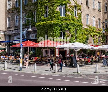Berlin Maison Courage - 140 Jahre alte Restaurant in Prenzlauer Berg. Jetzt für die Sanierung von Investor geschlossen - Stockfoto