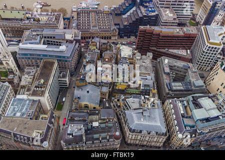 Luftaufnahme von Bausteinen in London. - Stockfoto