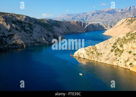 Neue Brücke Maslenica in Kroatien - Stockfoto