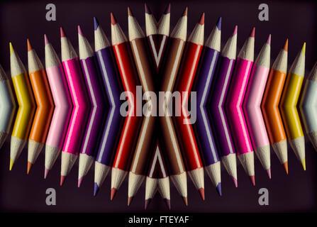 Buntstifte in verschiedenen Winkeln - Stockfoto