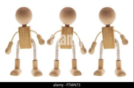 Hölzerne Kinder Figuren - Stockfoto