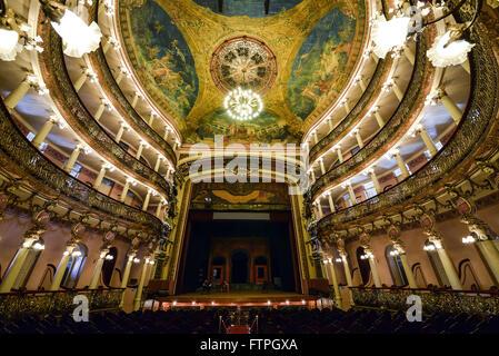Innenansicht des Teatro Amazonas - gebaut im Jahre 1896 während Zyklus Kautschuk - Stockfoto