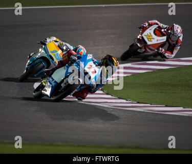 Losail International Circuit, Katar. 19. März 2016 Livio Loi während der Vorbereitung für den Grand Prix von Katar - Stockfoto