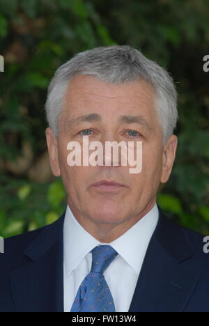 "Washington, DC, USA, 23. September 2007 Senator Chuck Hagel (R -NE) bei CNN ""Spätausgabe"" Credit: Mark Reinstein - Stockfoto"